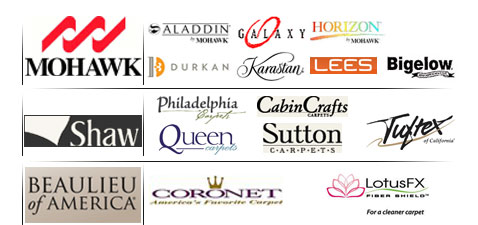 Major brands we carry.